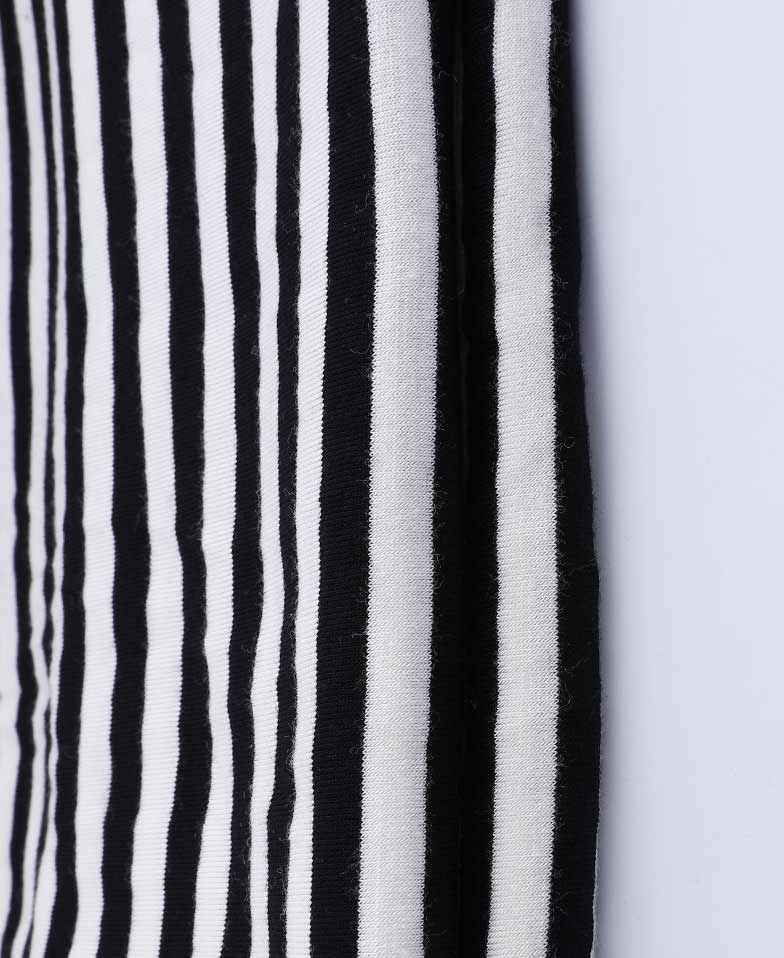 Latest Design Black and white Cotton Striped Fabric